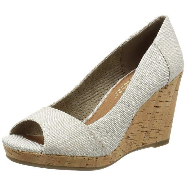 22707c7a63c Shop TOMS Womens Stella Peep-Toe Wedges - 11 - Free Shipping On ...