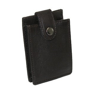 Paul & Taylor Men's Leather Money Clip and Expandable Card Holder - One size
