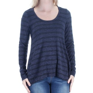 HIPPIE ROSE $19 Womens New 1159 Navy Black Striped Pleated Sweater S Juniors B+B