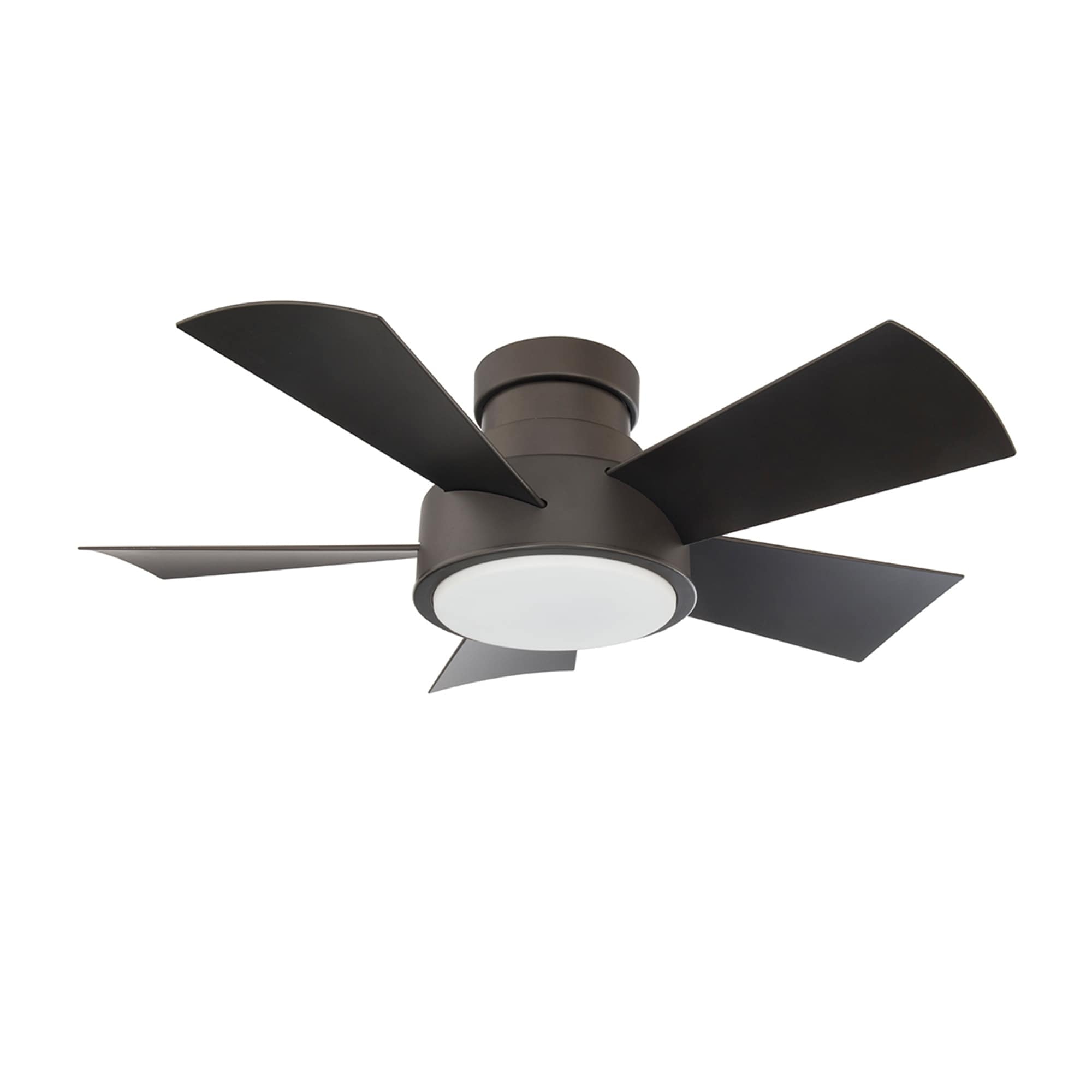 Shop Black Friday Deals On Vox 38 Inch Five Blade Indoor Outdoor Smart Flush Mount Ceiling Fan With Six Speed Dc Motor And Led Light Overstock 25737956