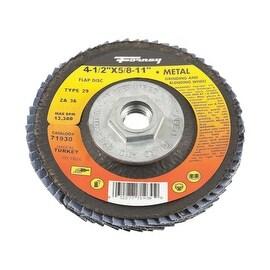Forney 36Gr Blue Zir Flap Disc