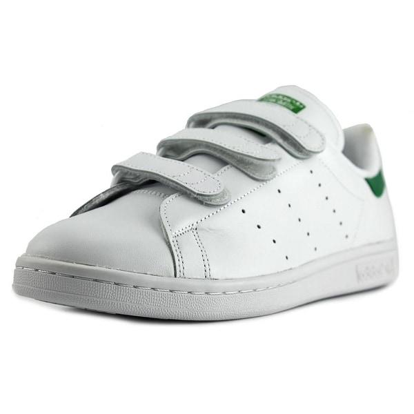 Adidas Stan Smith CF Men Round Toe Leather White Sneakers