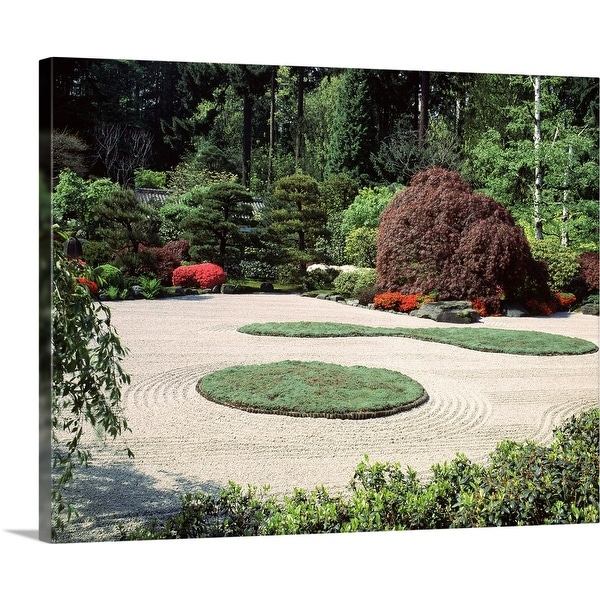 """Trees and plants in a garden, Japanese Garden, Washington Park, Portland, Oregon"" Canvas Wall Art"