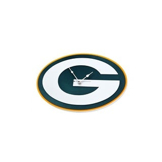NFL Green Bay Packers Logo Foam Clock