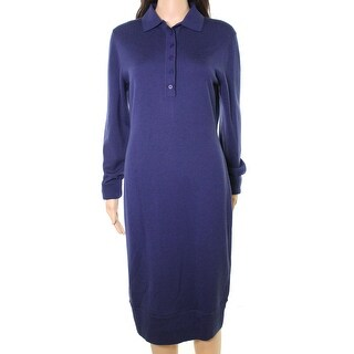 DKNY NEW Ink Navy Blue Women's Size Small S Wool Knit Sweater Dress