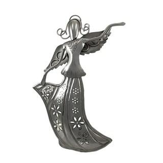 Abstract Aluminum Finish Fairy Tea Light Candle Holder - Silver
