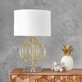 """Link to nuLOOM Toccoa 25"""" Modern Gold Table Lamp Similar Items in Table Lamps"""