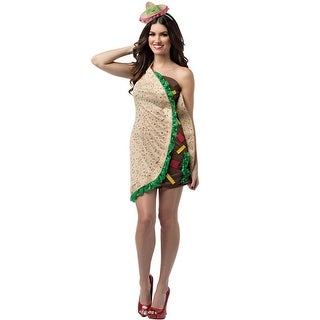 Rasta Imposta Foodies Taco Dress Adult Costume - Solid - one-size