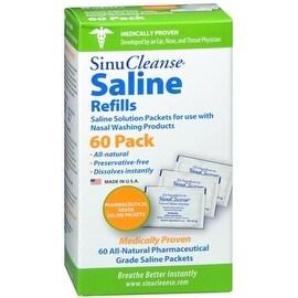 SinuCleanse Saline Refills 60 Packets 60 Each