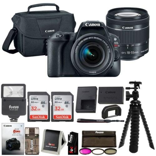 Canon EOS Rebel SL2 SLR Camera w/ 18-55mm f/4 STM Lens + Canon Bag & 64GB Bundle