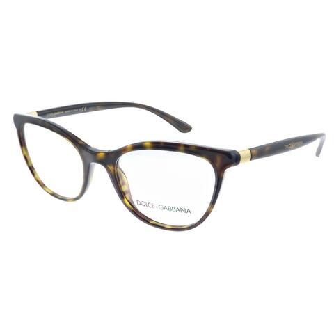 Dolce & Gabbana DG 3324 502 52mm Womens Havana Frame Eyeglasses 52mm