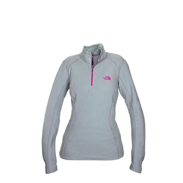 The North Face Women Glacier 1/4 Zip Fleece Grey/Hot Pink/Hot Pink