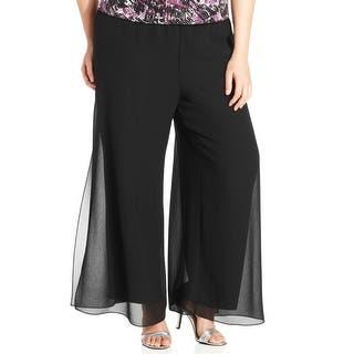 ALEX EVENINGS NEW Black Women's Size 3X Plus Split Leg Dress Pants|https://ak1.ostkcdn.com/images/products/is/images/direct/ba67fff74776d2403582f8351e8a10ec98410bfe/ALEX-EVENINGS-NEW-Black-Women%27s-Size-3X-Plus-Split-Leg-Dress-Pants.jpg?impolicy=medium