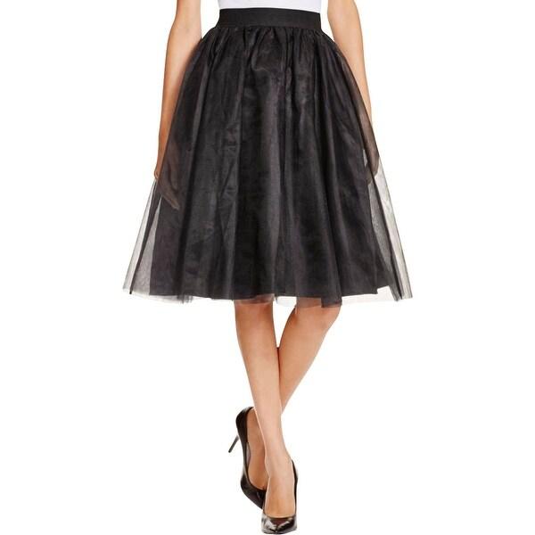 Aqua Womens A-Line Skirt Tulle Stretch