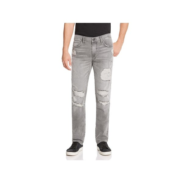 c7c81cc6 Shop J Brand Mens Tyler Slim Jeans Destroyed Zip Fly - 31 - Free ...