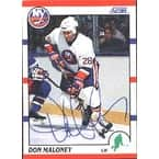 Don Maloney New York Islanders 1990 Score Autographed Card  signed in ball point pen  This item com