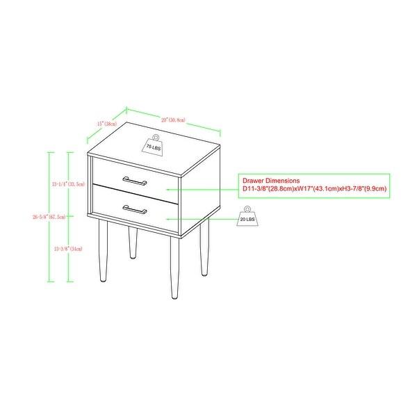 Carson Carrington Notto Modern 2-Drawer Nightstand