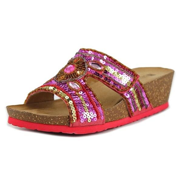 White Mountain Best W Open Toe Synthetic Slides Sandal