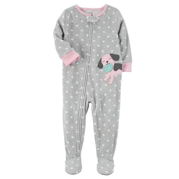 1922c1f82 Shop Carter s Little Girls  1 Piece Dog Fleece Pajamas