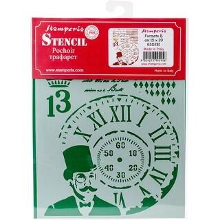 "Steampunk Man - Stamperia Stencil D 7.87""X5.91"""