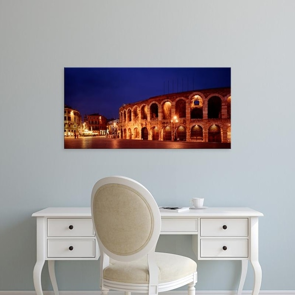 Easy Art Prints Panoramic Images's 'Italy, Verona, The Arena, evening' Premium Canvas Art