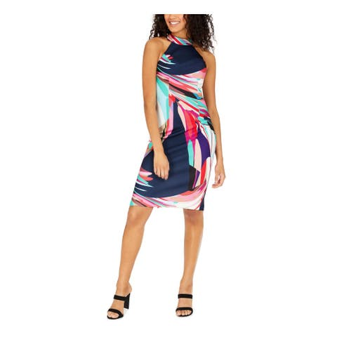 TRINA TURK Navy Sleeveless Above The Knee Dress 12
