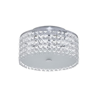 Bazz Lighting PL3413CC Glam Series Three-Light Flush Mount Ceiling Fixture Finished in Chrome  sc 1 st  Overstock.com & Shop Bazz Lighting PL3416ON Glam-Gatsby 6 Light 16