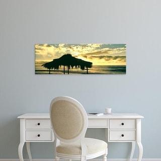 Easy Art Prints Panoramic Images's 'Shack on beach, Windansea Beach, La Jolla, San Diego, California' Canvas Art