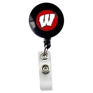 Wisconsin Badgers Retractable Badge Reel Id Ticket Clip NCAA