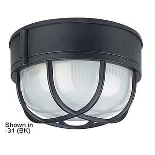 """Sunset Lighting F7986 1 Light Outdoor Cast Aluminum 8"""" Wide Flush Mount Ceiling Fixture"""