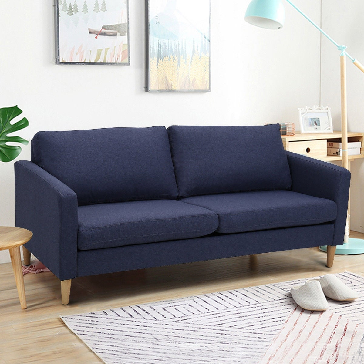 Costway Modern Fabric Couch Sofa