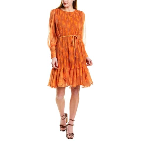 Beulah Pleated Shift Dress