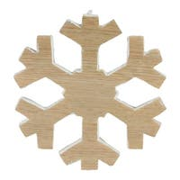"7.5"" Faux Wood Grain Snowflake Christmas Decoration - Brown"