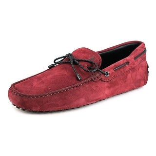 Tod's Laccetto My Colors Gommini 122 Men Suede Burgundy Moccasins