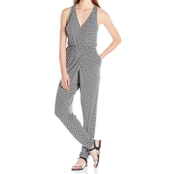 ecdb68380aae Shop BCBG Generation NEW Black Womens Size Small S Abstract Print Jumpsuit  - Free Shipping On Orders Over  45 - Overstock - 20296720
