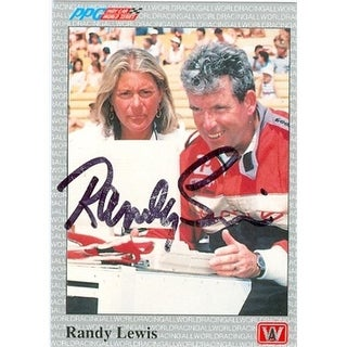 Randy Lewis Autographed Trading Card Auto Racing 1991 Ppg No. 28