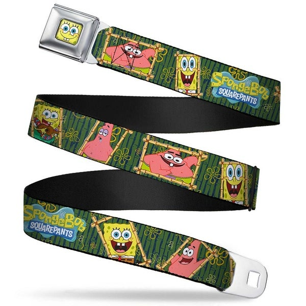 Sponge Bob Face Close Up Sponge Bob & Patrick Starfish Bamboo Frames Logo Seatbelt Belt