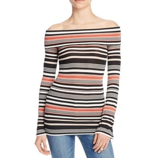 Free People Womens Casual Top Off-The-Shoulder Striped