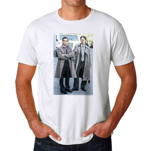 273e13df Shop The Office Michael Scott Dwight Schrute Graphic Men's White T-shirt -  On Sale - Free Shipping On Orders Over $45 - Overstock - 19855290