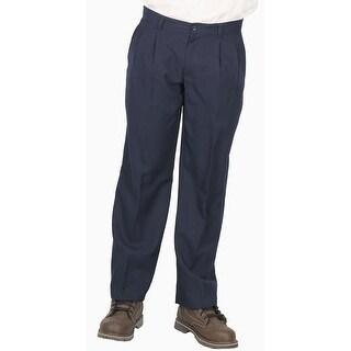 Geoffrey Beene Men's Dress/Casual Pleated Pant, Navy