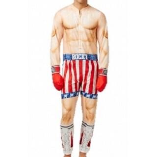 Briefly Stated NEW Beige Mens Size L Rocky Balboa One-Piece Sleepwear