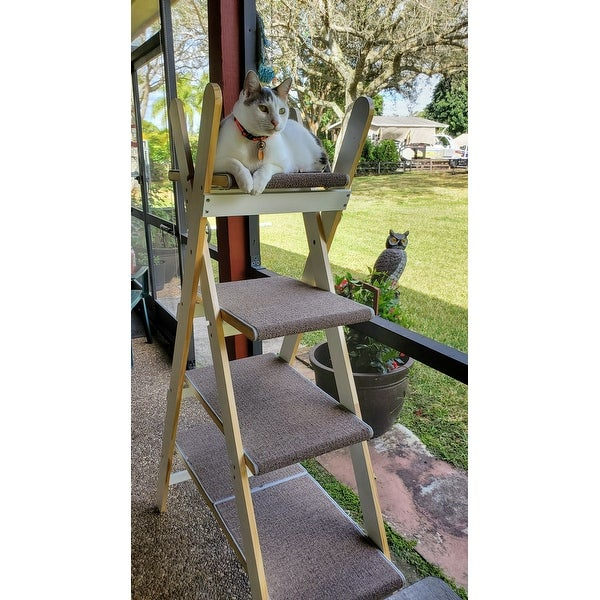 Modern Folding 4 Level Cat Tree On Sale Overstock 17610830