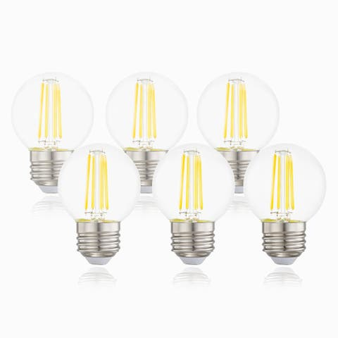 Light Society Koby G16.5 Clear LED Filament Light Bulb (Set of 6)