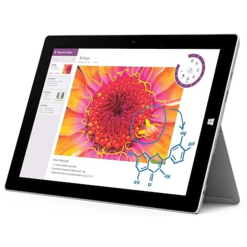 """Microsoft Surface 3 128GB Intel Atom x7-Z8700 X4 1.6GHz 10.8"""", Silver (Certified Refurbished)"""