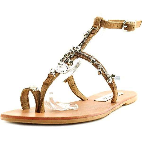 Steve Madden VENUSSS Women Open Toe Leather Tan Gladiator Sandal