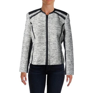 Vince Camuto Womens Tweed Metallic Blazer - 14