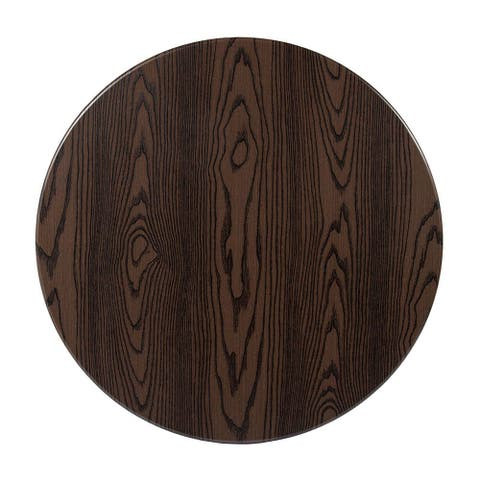 """Offex 30"""" Contemporary Round Rustic Wood Laminate Table Top"""