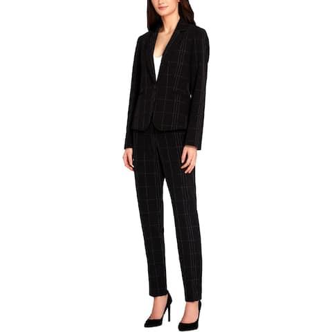 Tahari ASL Womens Pant Suit Plaid Professional - 14