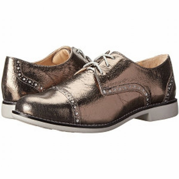 Cole Haan NEW Silver Shoes Size 5C Gramercy Oxfords Leather