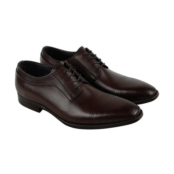 Kenneth Cole New York Course Of Action Mens Brown Casual Dress Oxfords Shoes
